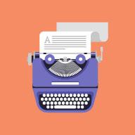 Typewriter with story being written